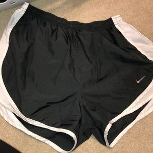 Nike grey and white shorts